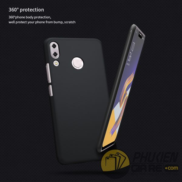 ốp lưng zenfone 5 2018 ze620kl nhựa sần - case cho zenfone 5 2018 ze620kl - ốp lưng zenfone 5 2018 ze620kl nillkin super frosted shield (12829)