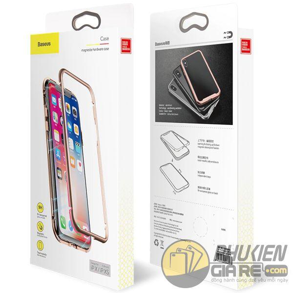 ốp lưng iphone xs max nam châm ốp lưng iphone xs max bằng kính - ốp lưng iphone xs max kim loại - ốp lưng iphone xs max baseus metallic magnetic (13795)