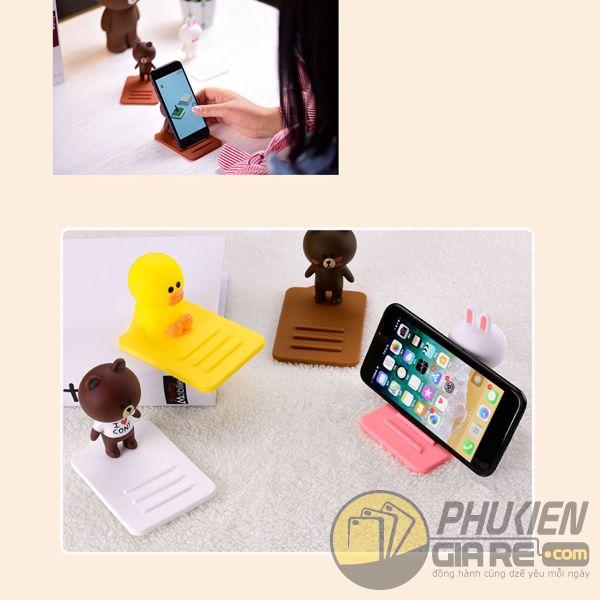Giá đỡ điện thoại silicone hình thú dễ thương