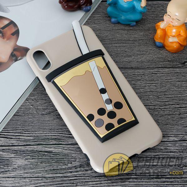 Ốp lưng iPhone Xs Max TPU dẻo kiểu ly trà sữa