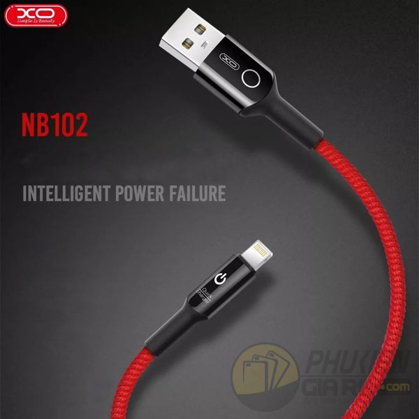Cáp sạc lightning XO NB102 cho iPhone, iPad