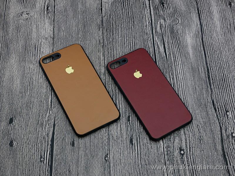 Ốp lưng iPhone 7 Plus GUDA dán skin da bò