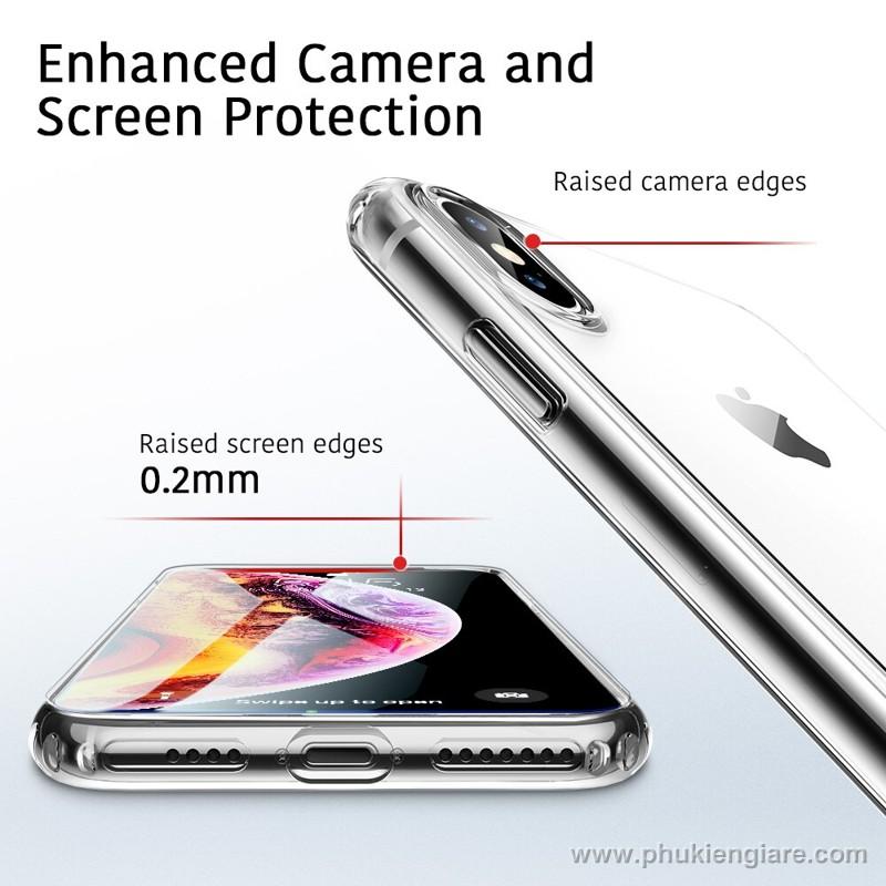 Ốp lưng iPhone XS Max TPU dẻo siêu mỏng Trong suốt