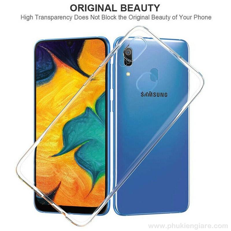 Ốp lưng Galaxy A10s TPU dẻo siêu mỏng Trong suốt