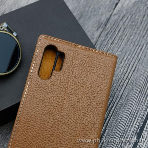 Bao da Galaxy Note 10 Plus GUDA - Da Bò Vân Mil