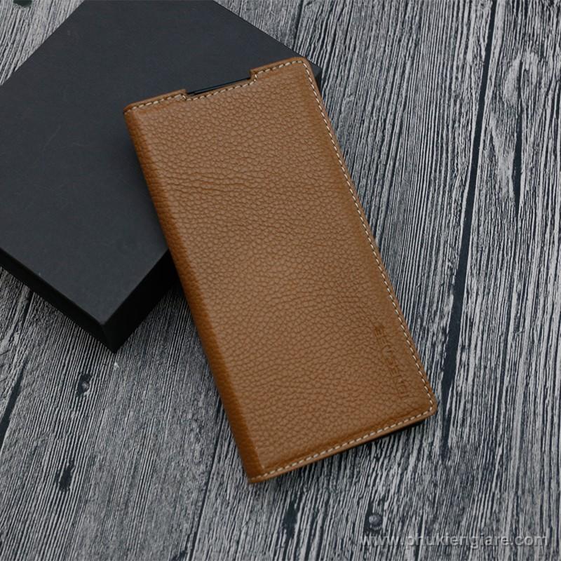 Bao da Galaxy Note 10 GUDA - Da Bò Vân Mil
