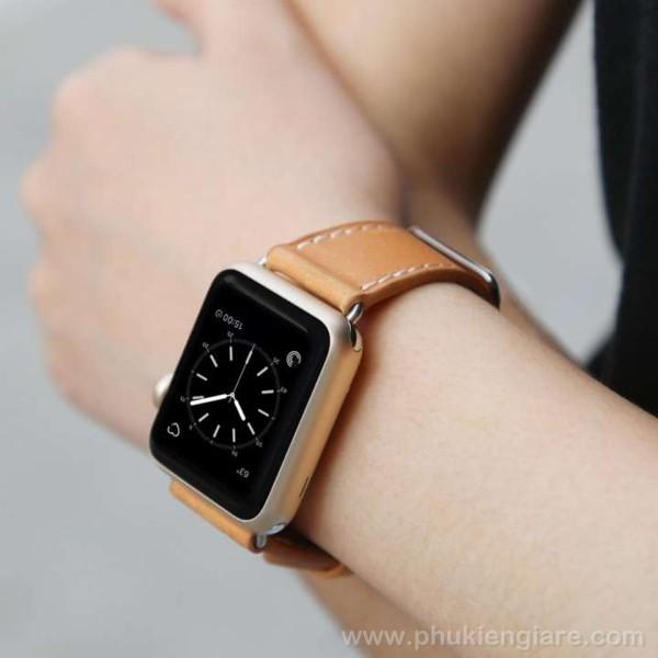 Dây đeo Apple Watch 44mm Kakapi Da trơn