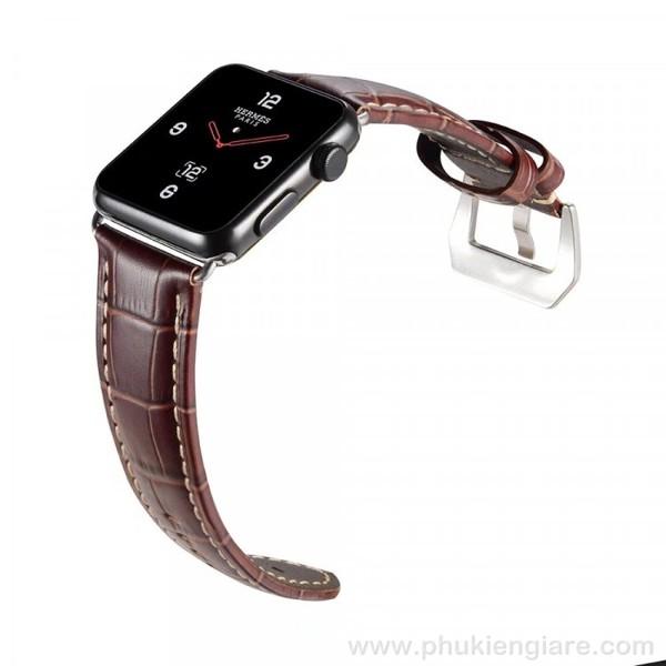 Dây đeo Apple Watch 42mm Kakapi Da Vân Cá Sấu