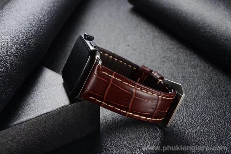 Dây đeo Apple Watch 40mm Kakapi Da Vân Cá Sấu