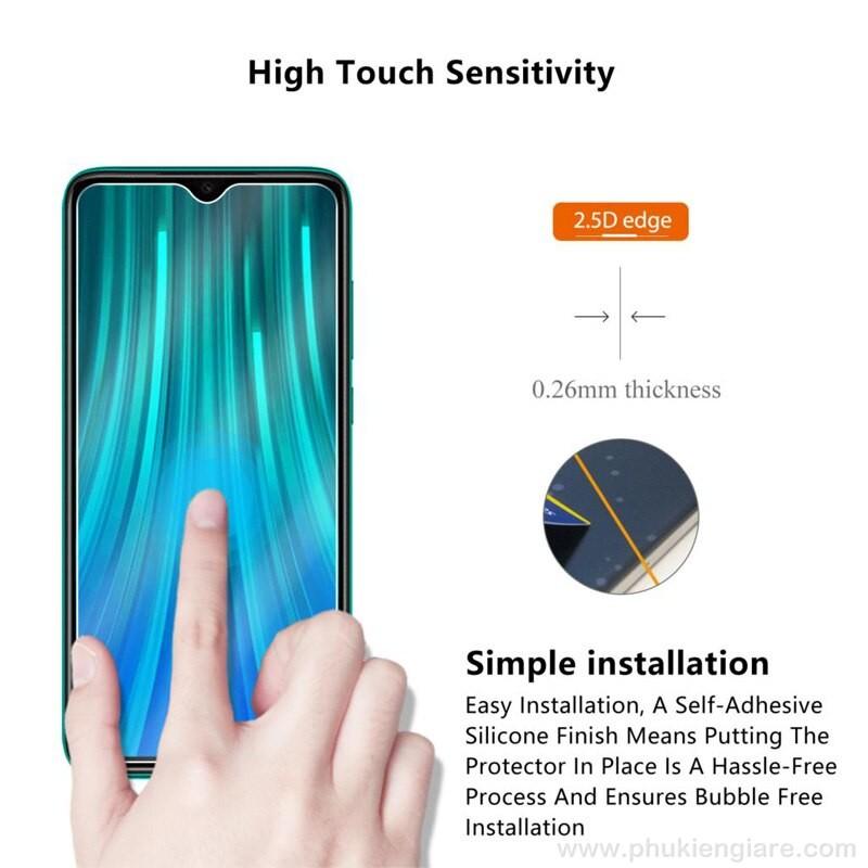Miếng dán cường lực Xiaomi Redmi Note 8 Glass
