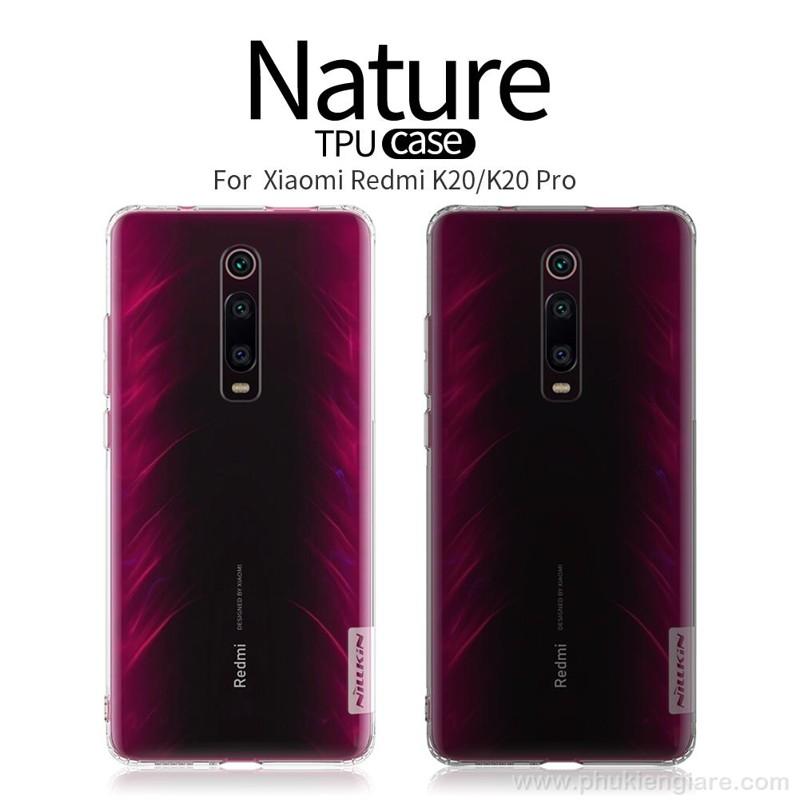 Ốp lưng Xiaomi Mi 9T/9T Pro/K20/K20 Pro Nillkin Nature TPU Case Trong suốt