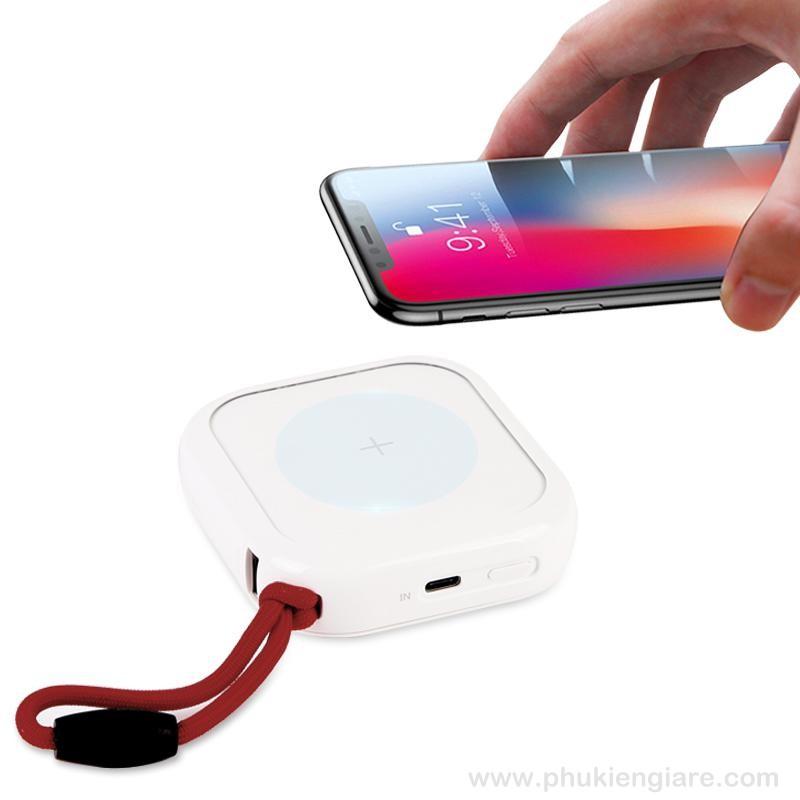 Pin dự phòng Mipow Cube X 10.000mAh PD 18W sạc không dây Version 2