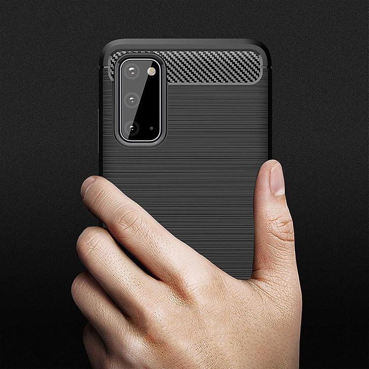 Ốp lưng chống sốc cho Samsung Galaxy S20 Plus hiệu Likgus (chuẩn quân đội, chống va đập, chống vân tay)