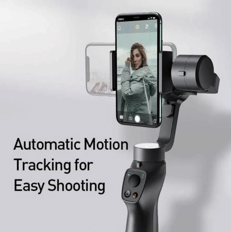 Tay cầm chống rung đa năng cho điện thoại Baseus Gimbal Stabilizer ( 3-Axis Handheld , w/Focus, Pull & Zoom, Smartphone Control Handheld )