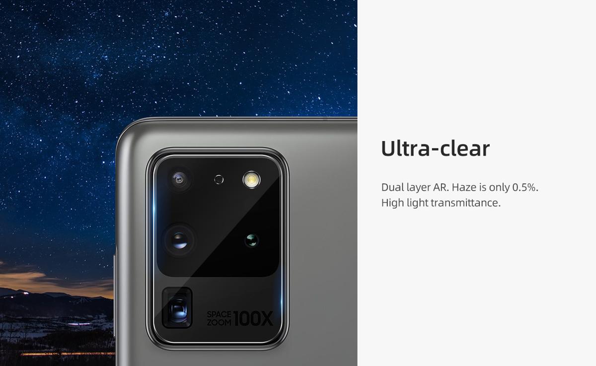 Miếng dán cường lực Galaxy S20 Ultra Nillkin Camera Protection - Hàng Chính Hãng