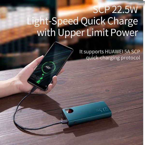 Pin dự phòng sạc nhanh Baseus Adaman Metal Digital Display Quick Charge 22.5W 20000mAh (QC3.0/ PD3.0/ SCP/ AFC Quick charge Power Bank) - Hàng Chính Hãng