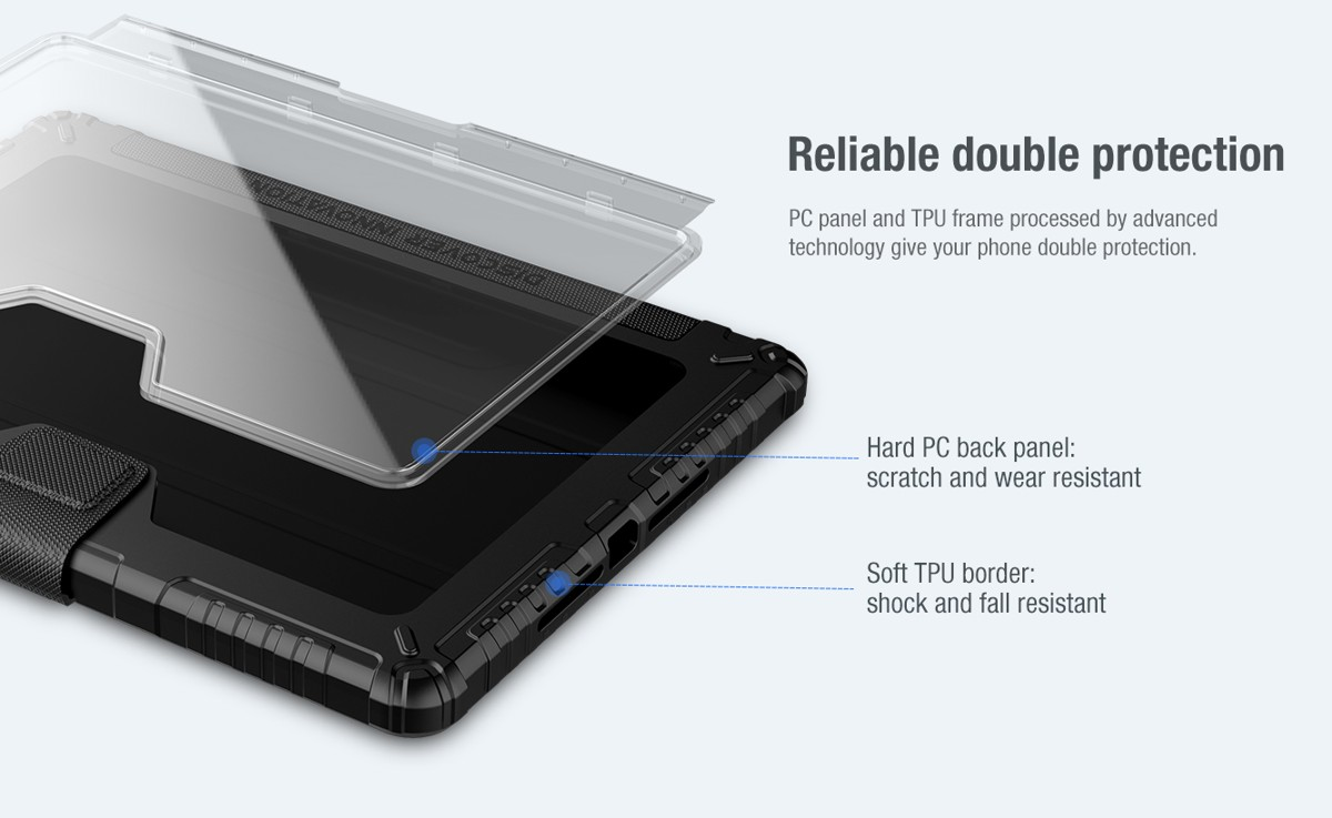 Bao da iPad Pro 10.2 Nillkin Bumper Cam Shield - Hàng Chính Hãng