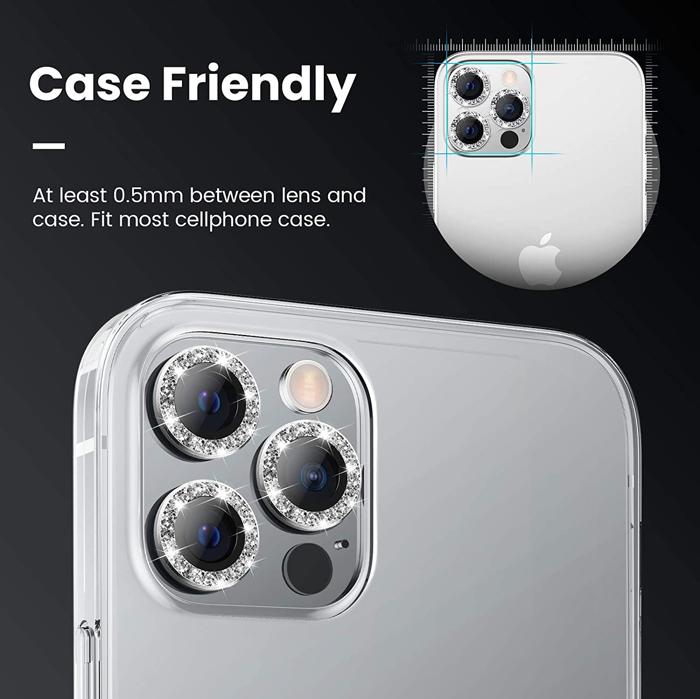 Miếng dán bảo vệ iPhone 12 Pro Kuzoom Camera Protection Nhũ Đá - Hàng Chính Hãng
