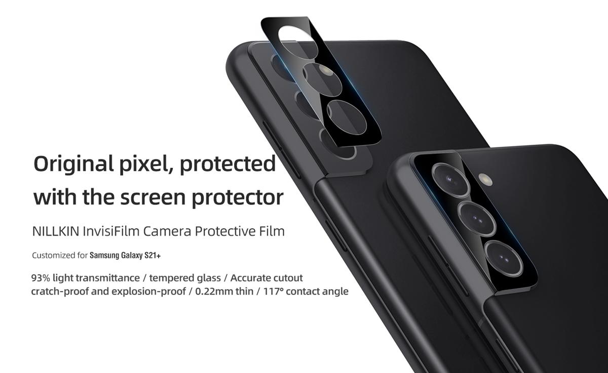 Miếng dán cường lực Galaxy S21 Plus Nillkin Camera Protection màu Đen - Hàng Chính Hãng