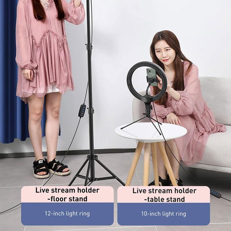 Đèn Live Stream Baseus Holder Table Stand 12 inch (60cm) - Hàng Chính Hãng