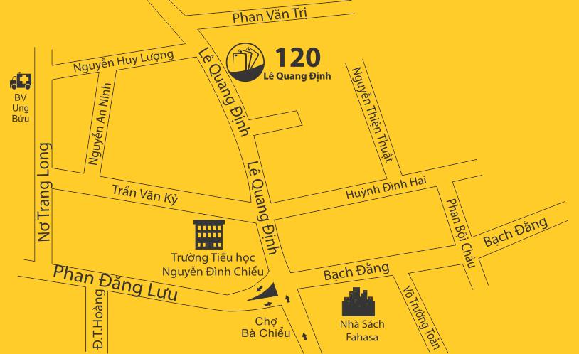 Bản đồ 120 Lê Quang Định, P.14, Q.Bình Thạnh