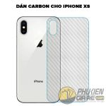Dán Carbon iPhone Xs carbon fiber 100% 7800