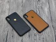 Ốp lưng iPhone XS Max GUDA dán skin da bò vân mil