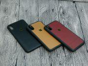 Ốp lưng iPhone XS Max GUDA dán skin da bò