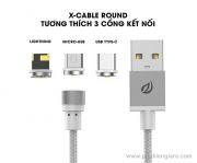 Cáp sạc MicroUSB X-Cable hít nam châm
