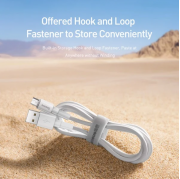 Cáp sạc nhanh, siêu bền Baseus Mini White đuôi Micro (Quick Charging & Sync Data TPE Cable) - Hàng Chính Hãng