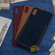 Miếng dán da iPhone X da Nappa có ngăn đựng thẻ