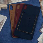 Miếng dán da iPhone Xs Max da Nappa có ngăn đựng thẻ