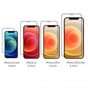 Miếng dán cường lực iPhone 12/12 Pro Mipow Kingbull Premium 2.7D full viền Đen - Hàng Chính Hãng