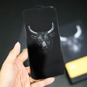 Miếng dán cường lực iPhone 12 Mini Mipow Kingbull Premium 2.7D full viền Trong suốt - Hàng Chính Hãng