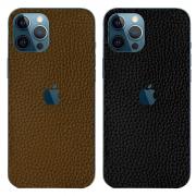Miếng dán da iPhone 12 Pro Max GUDA - Da Bò Vân Mil