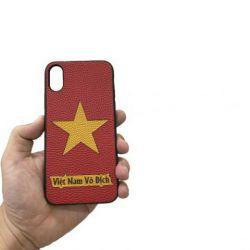 Ốp lưng skin da iPhone X/XS Việt Nam Vô Địch