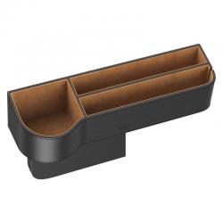 Ngăn chứa đồ tiện dụng dùng trên xe hơi Baseus Elegant Car Storage Box (Leather + Flannelette, Storage Organizer) - Hàng Chính Hãng