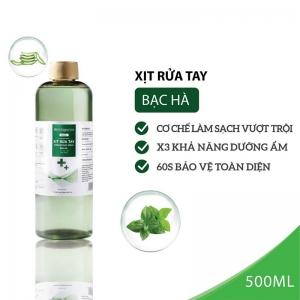 Nước Xịt rửa tay kháng khuẩn Bạc hà Milaganics 500ml