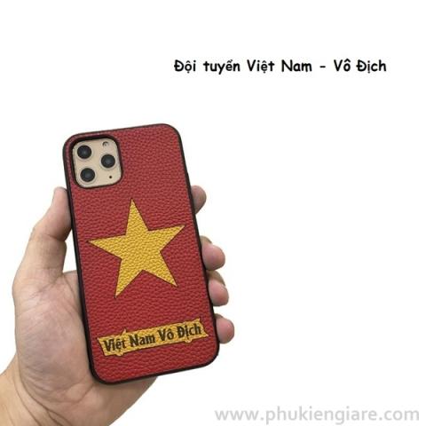 Ốp lưng skin da iPhone 11 Pro Max Việt Nam Vô Địch