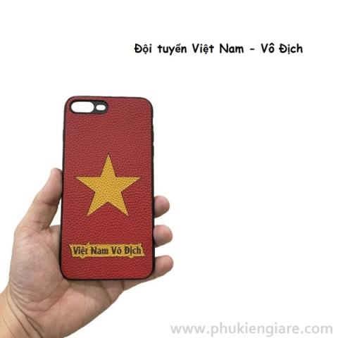 Ốp lưng skin da iPhone 7/8 Plus Việt Nam Vô Địch